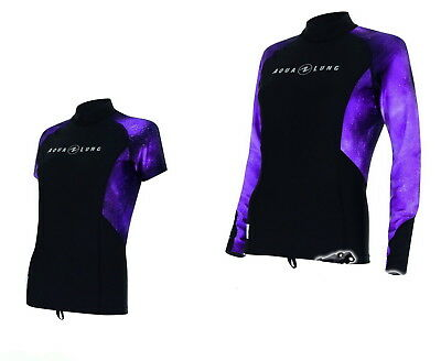 Aqualung galactic Purple Damen RASH GUARD Lady Lang - oder Kurzarm RASHGUARD