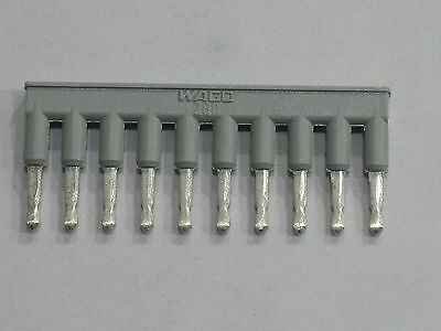 WAGO terminal block jumpers bar 280-490 bag of 25 new pieces 10 pole