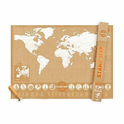 Stamp Map with Ink Stamps Where Have You Been Personalisable Craft Map