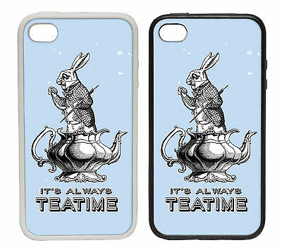 It's Always Tea Time - Rubber and Plastic Phone Cover Case #1