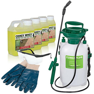 Crikey Mikey EXTRA Strong Cleaning Solution Kit Kills Moss Algae Lichen Garden