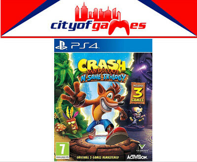 Crash Bandicoot NSane Trilogy PS4 Game New & Sealed Free Express Post Pre Order
