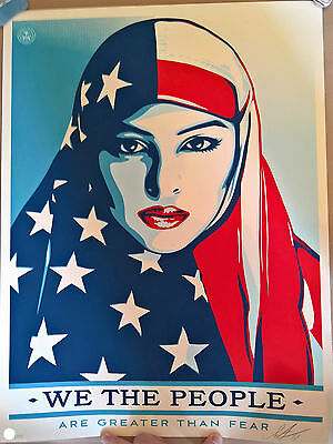 Shepard fairey (OBEY) - Greater than fear - Numbered/Signed - We the people