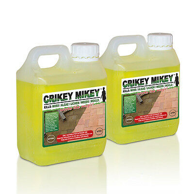 Crikey Mikey 2 Litres EXTRA Strong Cleaning Solution Kills Moss Algae Lichen