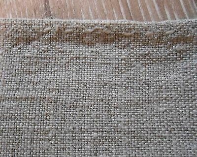 Antique Very Thin HEMP Fabric Canvas two pieces total 0,53x2,4m 19thC Great cond