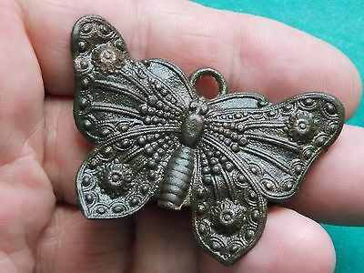 vintage butterfly pendant great detail metal detecting detector finds