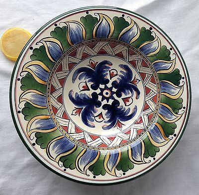 Deruta Soup Bowl Hand-Made & Painted Feather Rim Tabletops Unlimited 10.5""