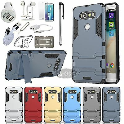 Case Cover Car Charger Earphones Headset Accessory Bundle Pack For LG Phone