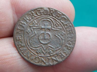 medieval jetton shield with detail metal detecting detector find