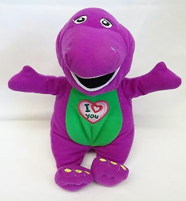 "Dinosaur Barney  ' I Love You' 9"" Singing Soft/Plush Toy*2007*Character Options"