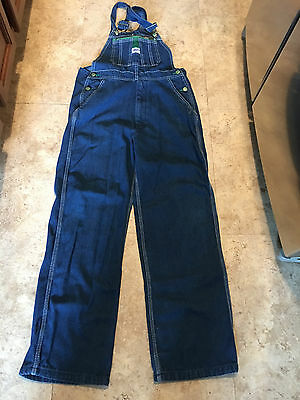 Boys LIBERTY Bib Overalls Size YOUTH 18 Denim Zipper Fly Excellent Condition!
