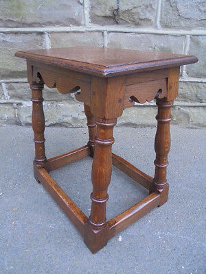 Antique Oak Joint Stool Small Table