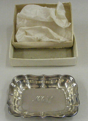 Reed & Barton Sterling Silver Windsor Nut Bon Bon dish tray 1952