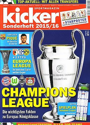 2015 2016 Kicker Champions League Preview Europa League Sonderheft Football