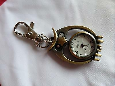 Lovely Owl Keyring Watch (M10)NEW BATTERY BEFORE POSTING FREE P&P