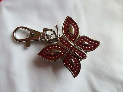 Red Butterfly   Keyring Watch (M12)
