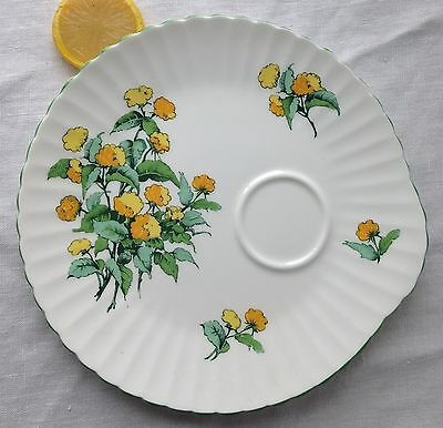 """Crown Staffordshire """"Cornwall"""" Fine Bone China Luncheon Set PLATE ONLY Flowers"""