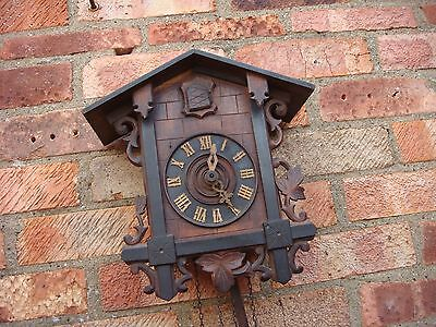 Antique Black Fores  cuckoo Wall  clock With Pair of Weigh & Pendulum  See Video