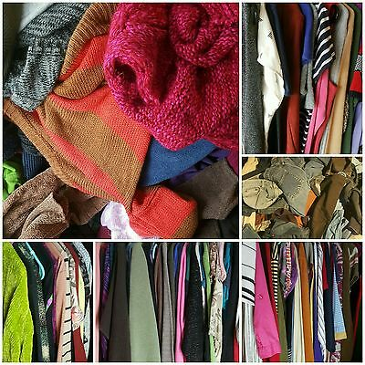 Womens Clothing Lot Assorted Tops Shirts Jeans Resale Inventory 50 PC Wholesale