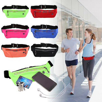 Outdoor Fitness Sports Waist Bag Fanny Pack Pocket Wallet Jogging Running Pouch