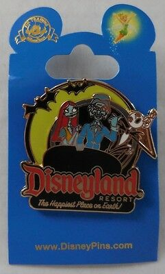 Disney Pin DLR 2011 Disneyland Jack and Sally on The Haunted Mansion Pin