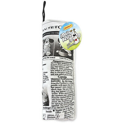 Crinkle Stuffed Daily Fetch Doggy Newspaper Dog Toy- - 3 Pack