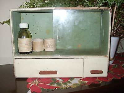 Antique Very Rare Old Wood  Primitive Country Farmhouse Medicine Cabinet