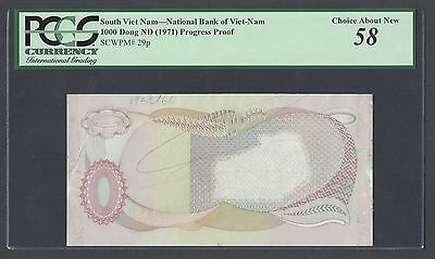 South Vietnam 1000 Dong ND(1971) P29p Proof About Uncirculated