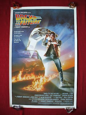 Back To The Future 1985 Original Movie Poster 1Sh Rolled Michael J Fox B2Tf Nm-M