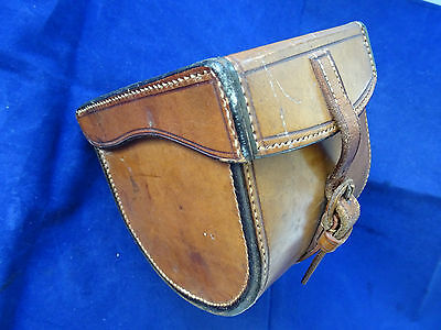 """Good Early 20Th Century Large C. Farlow & Co """"d"""" Block Leather Reel Case"""