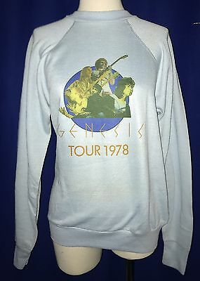 RARE Genesis 1978 TOUR CONCERT SWEATSHIRT shirt THIN LARGE UNUSED MINT polyester