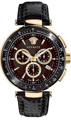 VERSACE MYSTIQUE MULTIFUNCTION CHRONO I8C80D598S009 Leather Strap Watch