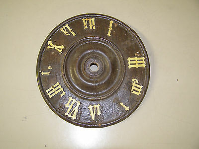 "Antique Coo Coo Clock 5 1/4"" dial with most numerals broken or missing"