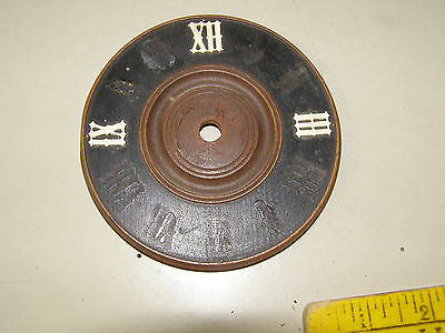 "Vintage Coo Coo Clock 4 1/4"" dial with most numerals missing"