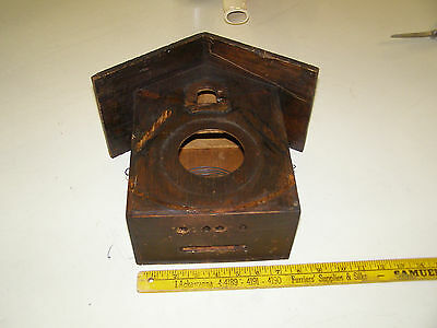 "Antique German Coo Coo Clock Case/box 10 1/2"" tall by 7 1/2"" wide with back door"