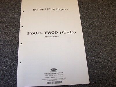 1994 ford f600 f700 f800 cab truck electrical wiring diagram manual