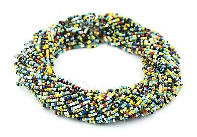 Small Christmas Beads Evergreen Medley 3mm Ghana African Multicolor Mixed Glass