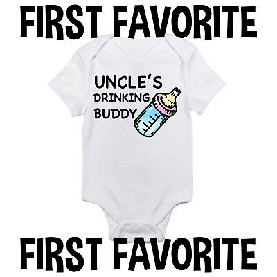 Uncle's Drinking Buddy Baby Onesie Clothes Shirt Gift Funny Infant Unisex Gerber