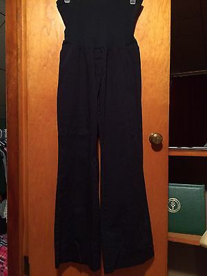 Motherhood Maternity Full Belly Panel Pants Navy Blue Size XL