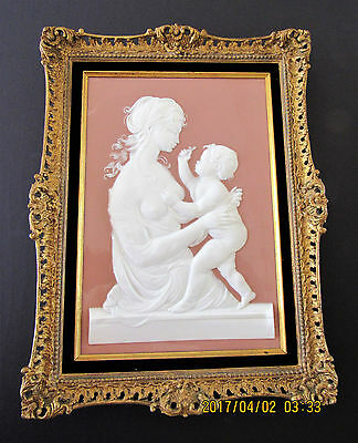 "BEAUTIFUL 18"" ROYAL WORCESTER Pate Sur Pate Ceramic Plaque LIMITED EDITION 500 M"