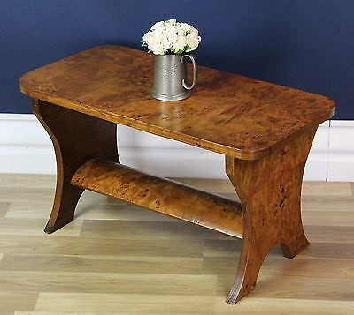 Art Deco Coffee Table - Burr Maple, Excellent condition Circa 1930