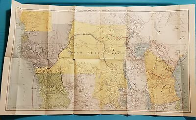 Map of Emin Pasha Relief Expedition Through Africa -1890 Scribners & Sons