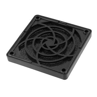 Black Plastic Square Dustproof Filter 80mm PC Case Fan Dust Guard Mesh CT M0B2