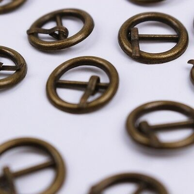 B045 Round Mini Old Metal Buckles Doll Clothes Sewing Supplies Doll Craft