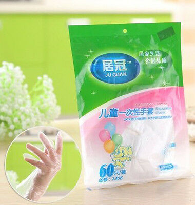 MS 120pcs Multipurpose Disposable LATEX-FREE Safety Gloves for Kids TO362