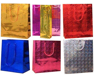Party Gift Bags Coloured Paper Birthday Handles Christmas Wine Shopping Wedding