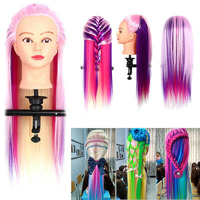 26''  Long Hair Salon Hairdressing Training head Mannequin Doll & Comb ss