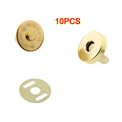 10 pcs Magnetic Snap Fasteners Clasps Buttons for Handbag Bags 18x14mm CT A0B7