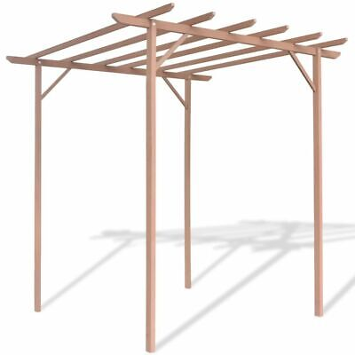 WPC Garden Pergola Shade Frame Plant Support Outdoor Yard with 4 Posts Brown