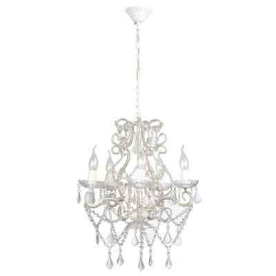 New Glass Crystal Chandelier Lamp Ceiling Pendant Lighting Lamp 5 Flames 5 Arm
